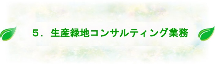 生産緑地コンサルティング業務